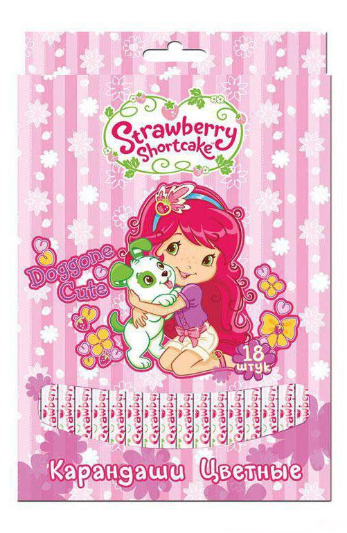 Action! Набор цветных карандашей Strawberry Shortcake 18 цветов цвет розовый72523WDЦветные карандаши, 18 цветов. Круглый корпус, с печатью. Улучшенный грифель. В картонной коробке с европодвесом. Лицензия STRAWBERRY SHORTCAKE Особенности: Улучшенный грифель