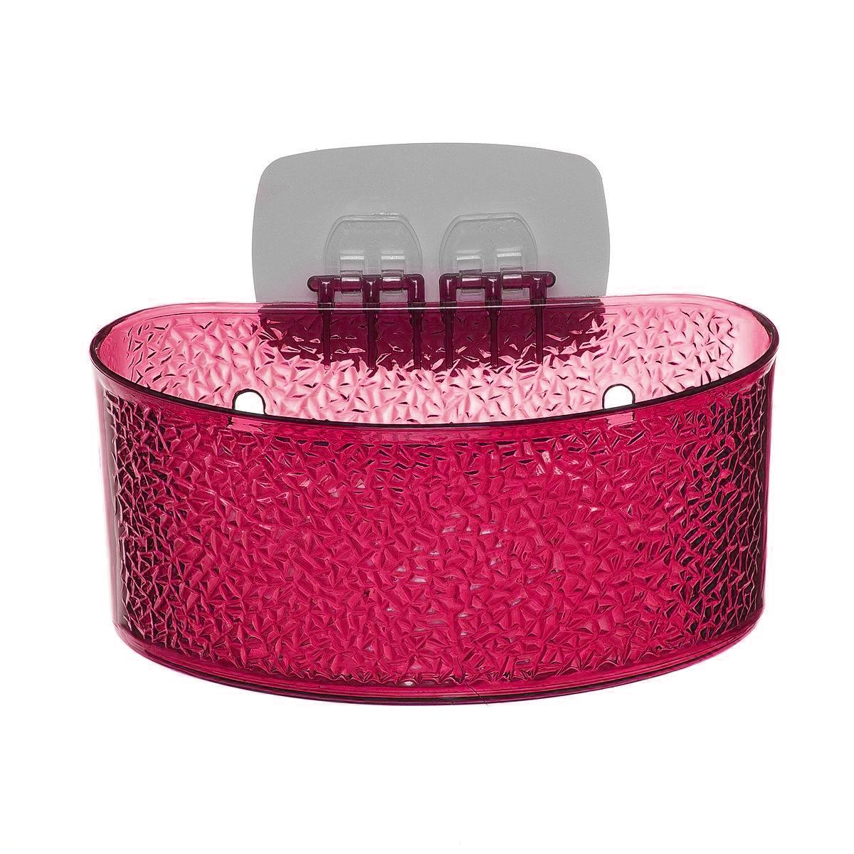 Полка для ванной комнаты Fresh Code, на липкой основе, цвет: малиновый, 19 х 10 х 10 см64943_ малиновыйПолка для ванной комнаты Fresh Code выполнена из ABS пластика. Крепление на липкой основе многократного использования идеально подходит для гладкой поверхности. Полка поможет создать настроение вашей ванной комнаты. Подходит для всех типов гладких поверхностей. Максимальная нагрузка 3 кг.