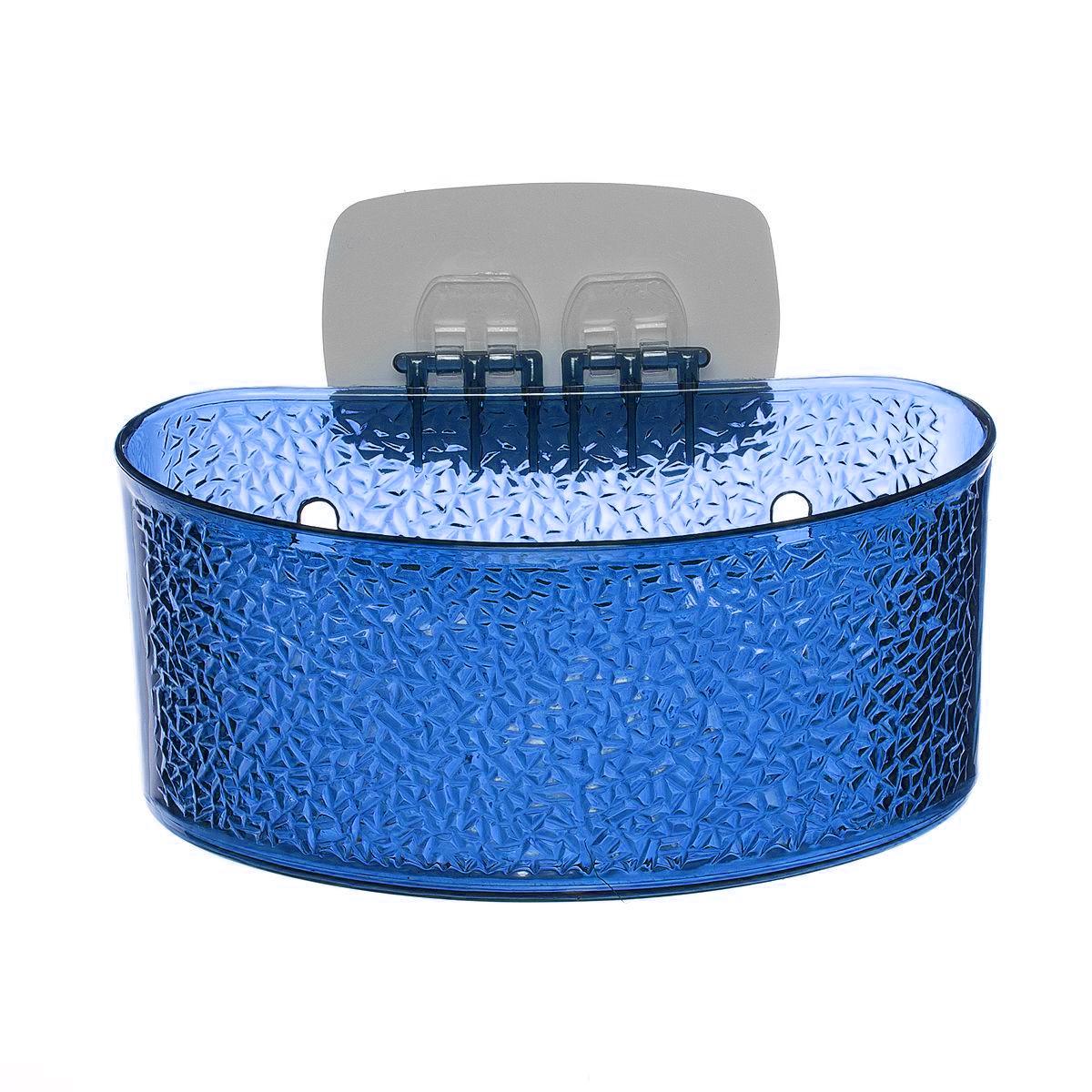 Полка для ванной комнаты Fresh Code, на липкой основе, цвет: синий, 19 х 10 х 10 см64943_ синийПолка для ванной комнаты Fresh Code выполнена из ABS пластика. Крепление на липкой основе многократного использования идеально подходит для гладкой поверхности. Полка поможет создать настроение вашей ванной комнаты. Подходит для всех типов гладких поверхностей. Максимальная нагрузка 3 кг.