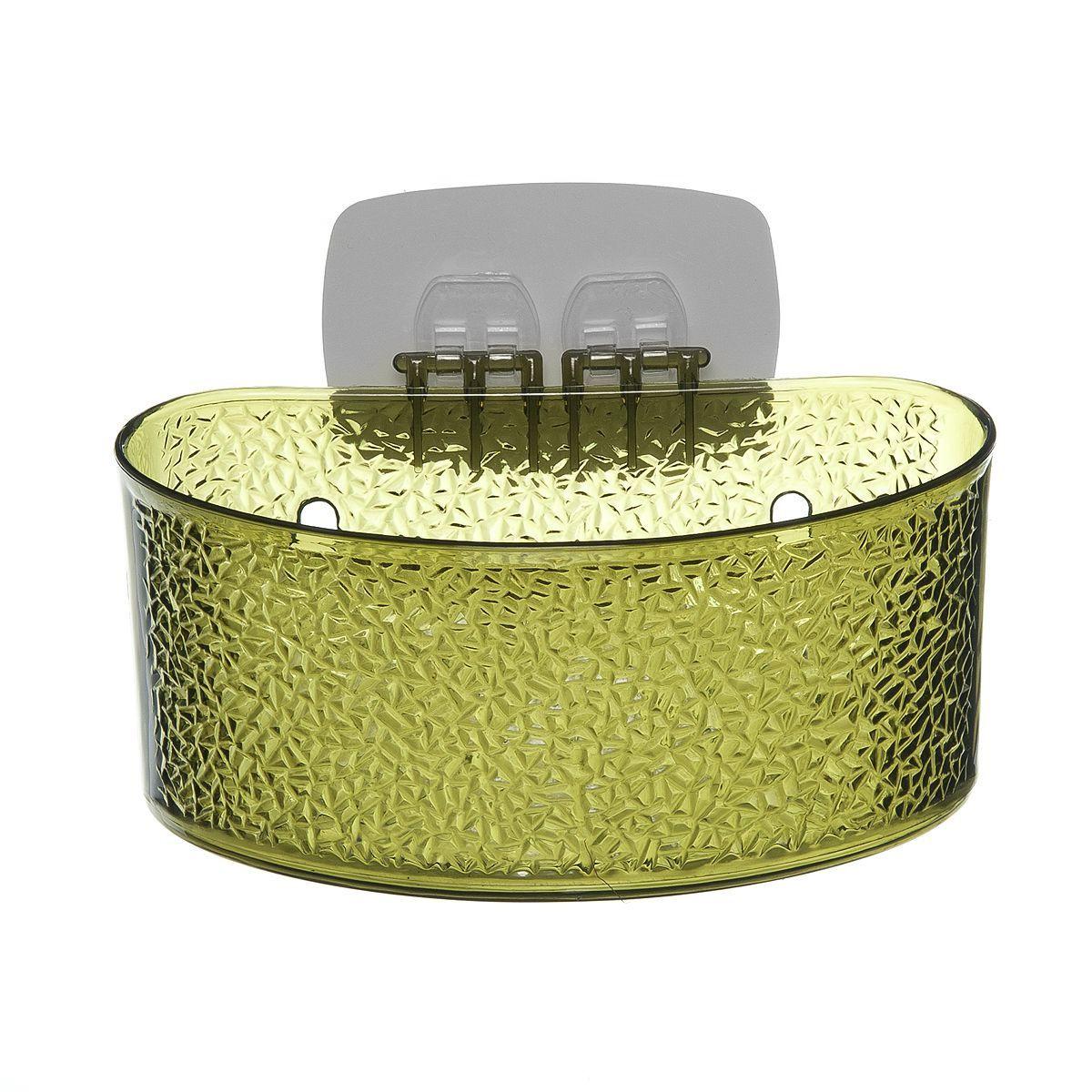 Полка для ванной комнаты Fresh Code, на липкой основе, цвет: зеленый, 19 х 10 х 10 см64943_ зеленыйПолка для ванной комнаты Fresh Code выполнена из ABS пластика. Крепление на липкой основе многократного использования идеально подходит для гладкой поверхности. Полка поможет создать настроение вашей ванной комнаты. Подходит для всех типов гладких поверхностей. Максимальная нагрузка 3 кг.