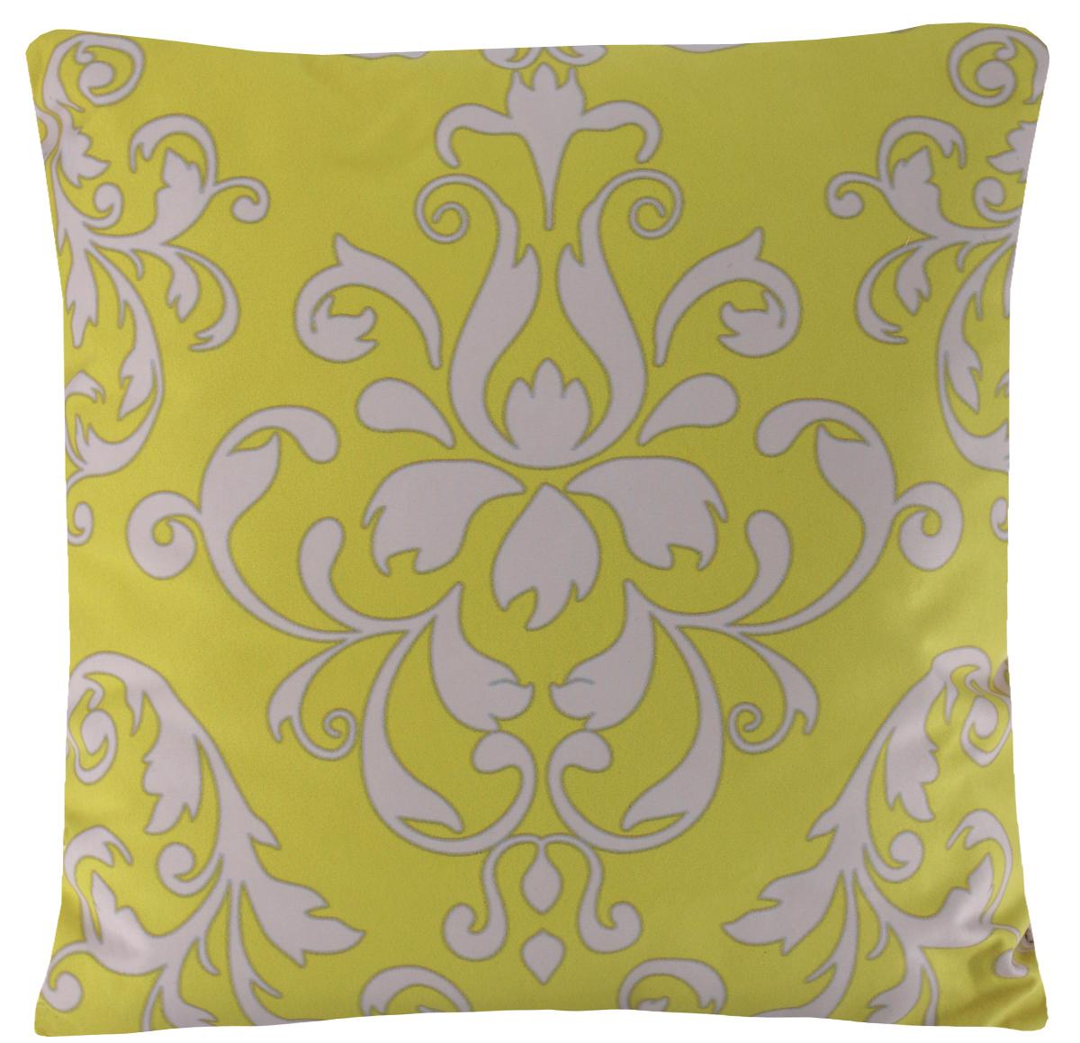 Подушка декоративная Proffi Желтый вензель, 43 х 43 смPH5945Декоративная подушка Proffi Желтый вензель - это яркое украшение вашего дома. Чехол выполнен из приятного на ощупь полиэстера. Чехол закрывается на молнию. Внутри - мягкий наполнитель из синтепона. Лицевая сторона подушки украшена оригинальным рисунком, задняя сторона - однотонного цвета. Стильная и яркая подушка эффектно украсит интерьер и добавит в привычную обстановку изысканность и роскошь.