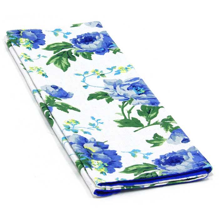 Салфетка Bonita, цвет: синий, белый, зеленый, 30 х 45 см1101210123_синие цветыСалфетка Bonita выполнена из натурального хлопка. Поверхность салфетки с одной стороны синего цвета, с другой стороны оформлена цветочным рисунком. Такая салфетка защитит ваш стол от воздействия горячей посуды и станет оригинальным дополнением интерьера.