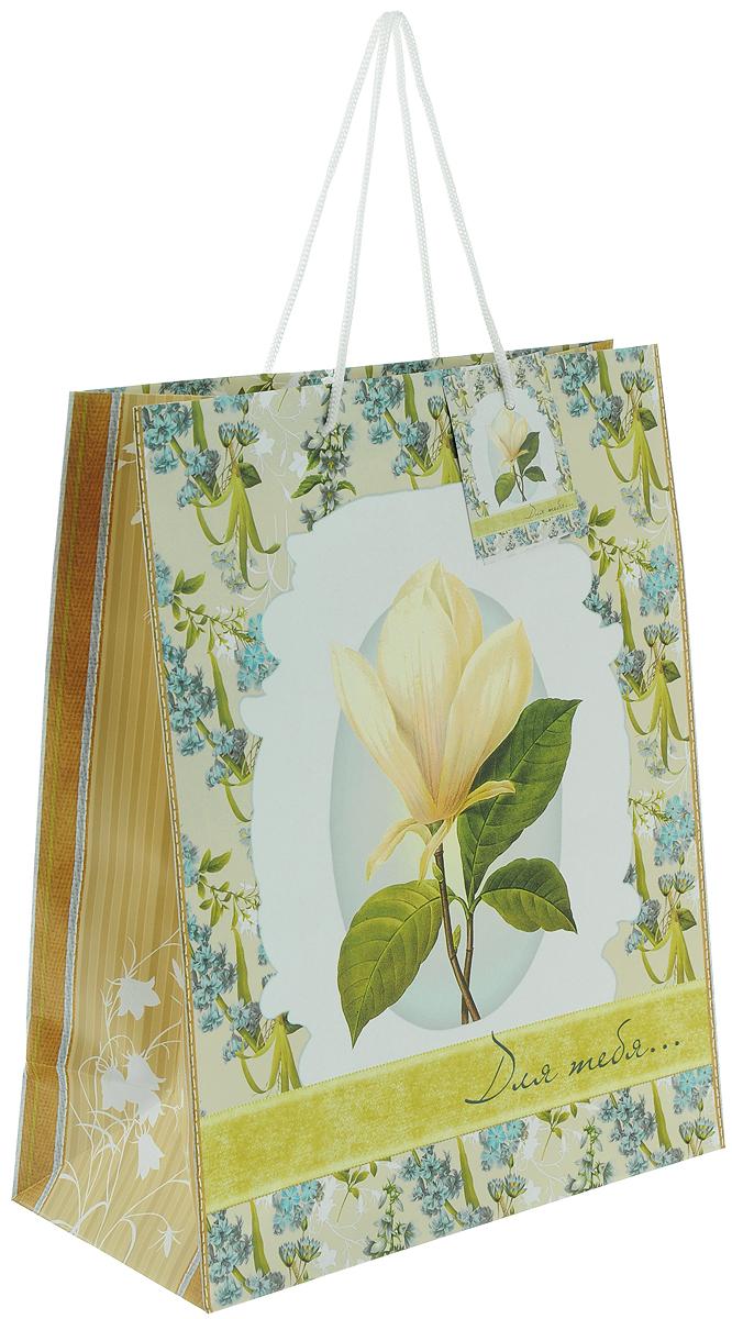 Пакет подарочный Феникс-Презент Летние цветы, 26 х 32,4 х 12,7 см39667Подарочный пакет Феникс-Презент Летние цветы, изготовленный из плотной бумаги, станет незаменимым дополнением к выбранному подарку. Дно изделия укреплено картоном, который позволяет сохранить форму пакета и исключает возможность деформации дна под тяжестью подарка. Для удобной переноски на пакете имеются две ручки из шнурков. Подарок, преподнесенный в оригинальной упаковке, всегда будет самым эффектным и запоминающимся. Окружите близких людей вниманием и заботой, вручив презент в нарядном, праздничном оформлении. Плотность бумаги: 140 г/м2.