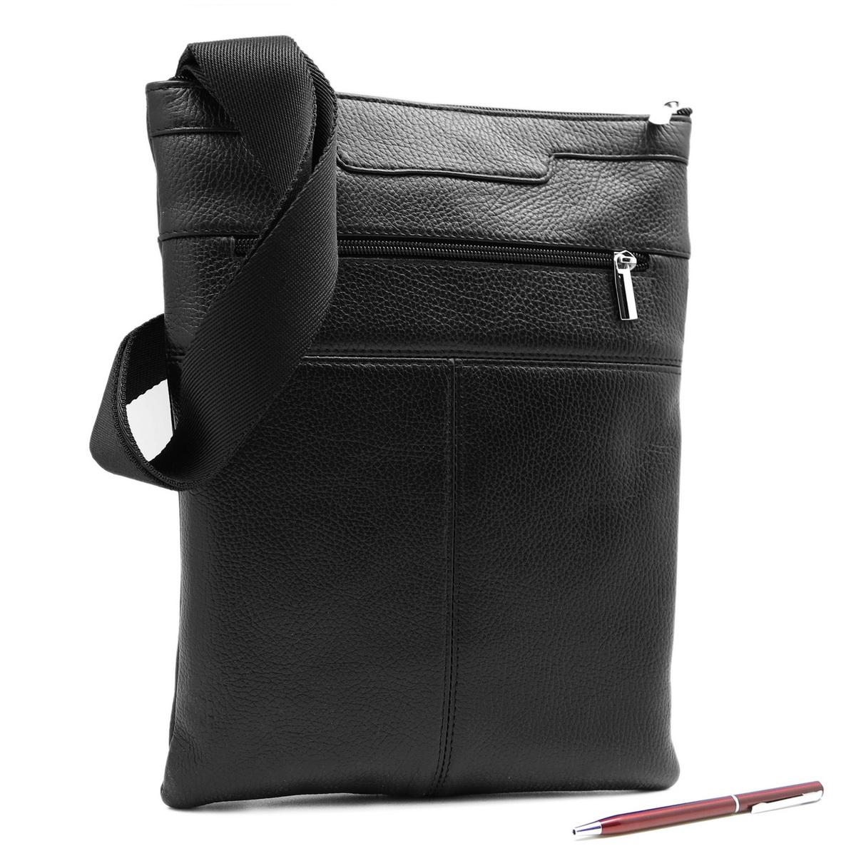 Сумка мужская Alexandr, цвет: черный. П-35/63П-35/63Стильная мужская сумка Alexandr изготовлена из натуральной кожи с зернистой фактурой, оформлена металлической фурнитурой. Изделие содержит одно отделение, которое закрывается на застежку-молнию. Внутри расположен врезной карман на молнии. На лицевой стороне расположен врезной карман на молнии. Задняя стенка сумки также дополнена врезным карманом на молнии. Изделие оснащено наплечным ремнем, длина которого регулируется при помощи пряжки. Практичный аксессуар вместит в себя все необходимое и позволит сохранить ваши документы.
