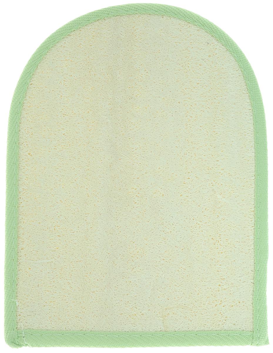 Мочалка-рукавица Home Queen, из люфы, цвет: светло-зеленый, 20 х 16 смPS0060Мочалка-рукавица Home Queen, изготовленная из люфы, прекрасно очищает и массирует кожу, улучшает циркуляцию крови и обмен веществ. Обладает эффектом скраба - мягко отшелушивает верхний слой эпидермиса, стимулируя рост новых, молодых клеток, делает кожу здоровой и красивой. Подходит для ежедневного использования.