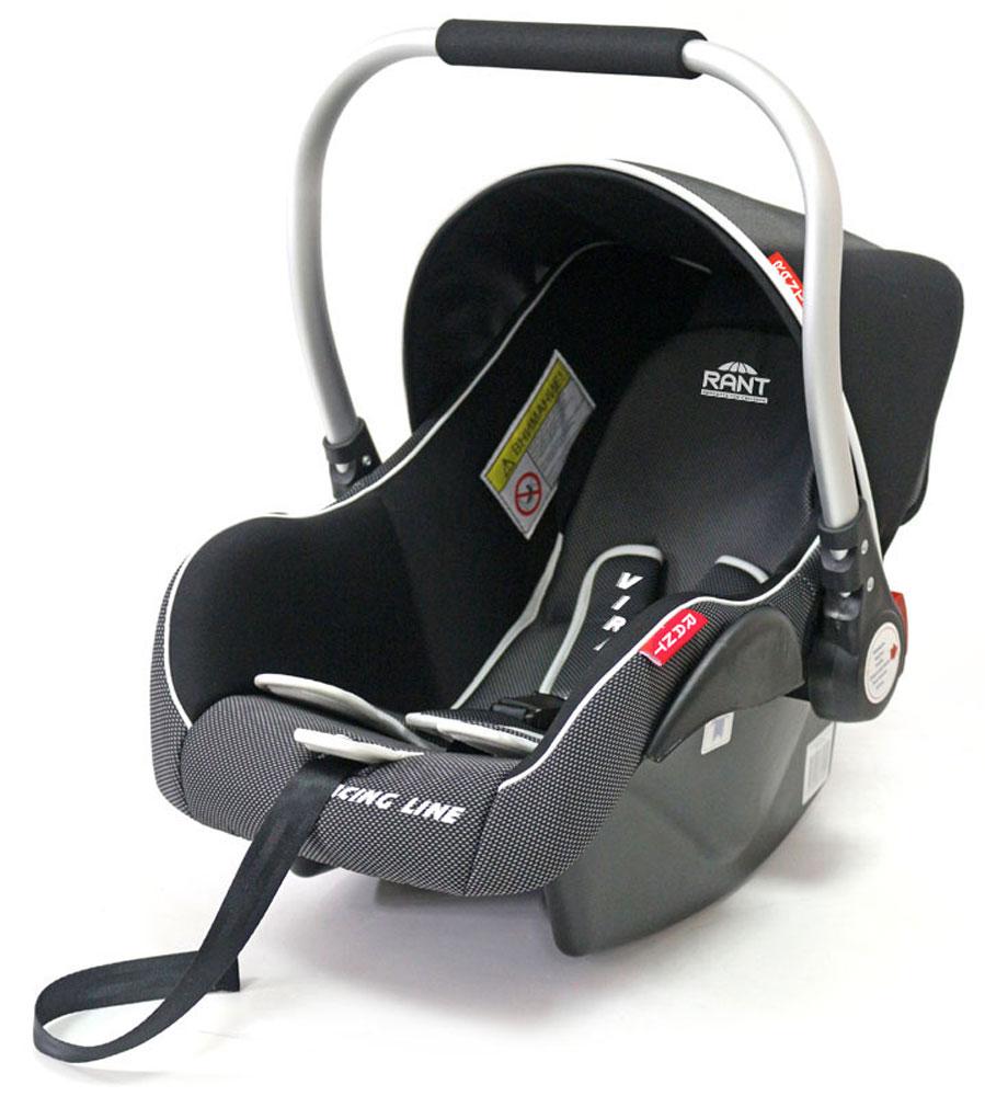 Rant Автокресло Virage до 13 кг цвет темно-серый черныйSM/DK-200 EzhikДетское автокресло (переноска) Rant Virage предназначено для малышей до 13 кг (от рождения и, приблизительно, до года).Особенности: Сиденье удобной формы с мягким вкладышем обеспечивает защиту и идеальное положение шеи и спины малыша, а также делает кресло комфортным и безопасным. Автокресло (переноска) Virage имеет внутренние 3-х точечные ремни безопасности с плечевыми накладками (уменьшают нагрузку на плечи малыша). Накладки обеспечивают плотное прилегание и надежно удержат малыша в кресле в случае ударов. Ремни удобно регулировать под рост и комплекцию ребенка без особых усилий. Удобная алюминиевая ручка для переноски малыша регулируется в 3-х положениях. Съемный капюшон защитит от яркого солнца или дождя, когда вы гуляете с малышом на свежем воздухе. Съемный чехол автокресла Virage изготовлен из гипоаллергенной эластичной ткани, легко чистится и стирается вручную или в деликатном режиме в стиральной машине при температуре 30°.Установка и крепление: Автокресло (переноска) Virage устанавливается лицом против движения автомобиля и крепится штатными автомобильными ремнями. Ребенок фиксируется внутренними ремнями безопасности. Такое положение обеспечивает максимальную безопасность маленькому пассажиру. Рекомендуется устанавливать автокресло на заднем сиденье автомобиля. Производитель допускает перевозку на переднем сиденье, в этом случае необходимо отключить фронтальные подушки безопасности. Автокресло (переноска) Virage сертифицировано и соответствует европейскому стандарту безопасности ECE R44-04.