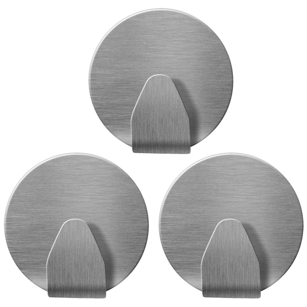 Крючки круглые Tatkraft Runda, самоклеющиеся80653Tatkraft RUNDA Самоклеющиеся круглые крючки из нержавеющей стали. Диаметр 35 мм, набор 3 шт., выдерживают вес до 5 кг. Надежная фиксация, не оставляют следов.
