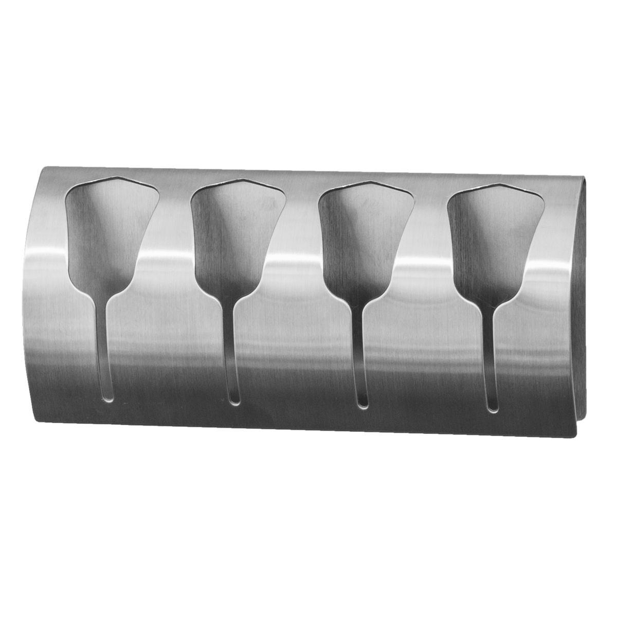 Вешалка Tatkraft Florida, самоклеющаяся, для 4 полотенец106-029Tatkraft FLORIDA Самоклеющаяся вешалка для 4 полотенец из нержавеющей стали, не боится влаги, удобна в использовании. Легкая установка (инструкция на упаковке), надежный клеевой слой, выдерживает вес до 15 кг. Упаковка: блистер.