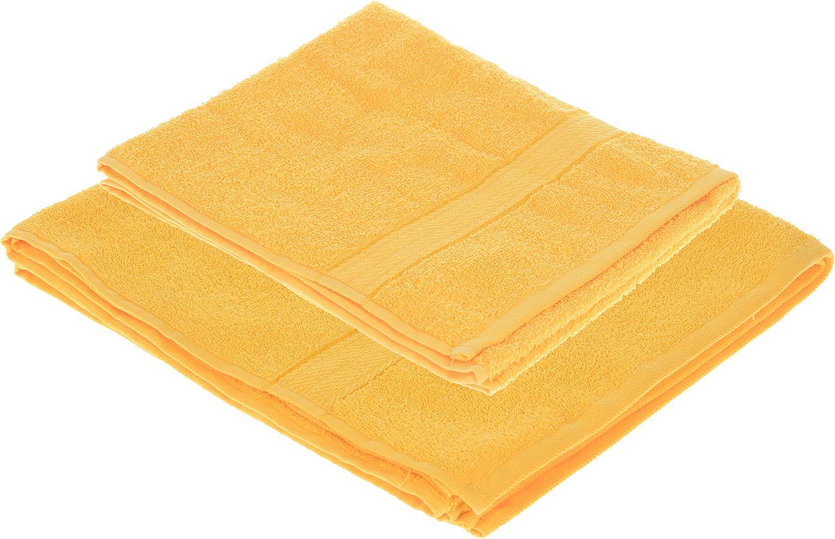 Набор махровых полотенец Aisha Home Textile, цвет: желтый, 2 шт. УзТ-НПМ-102-21УзТ-НПМ-102-21Набор Aisha Home Textile состоит из двух махровых полотенец разного размера. В состав входит только натуральное волокно - 100% хлопок. Лаконичные бордюры подойдут для любого интерьера ванной комнаты. Полотенца прекрасно впитывают влагу и быстро сохнут. При соблюдении рекомендаций по уходу не линяют и не теряют форму даже после многократных стирок. Комплектация: 2 шт.