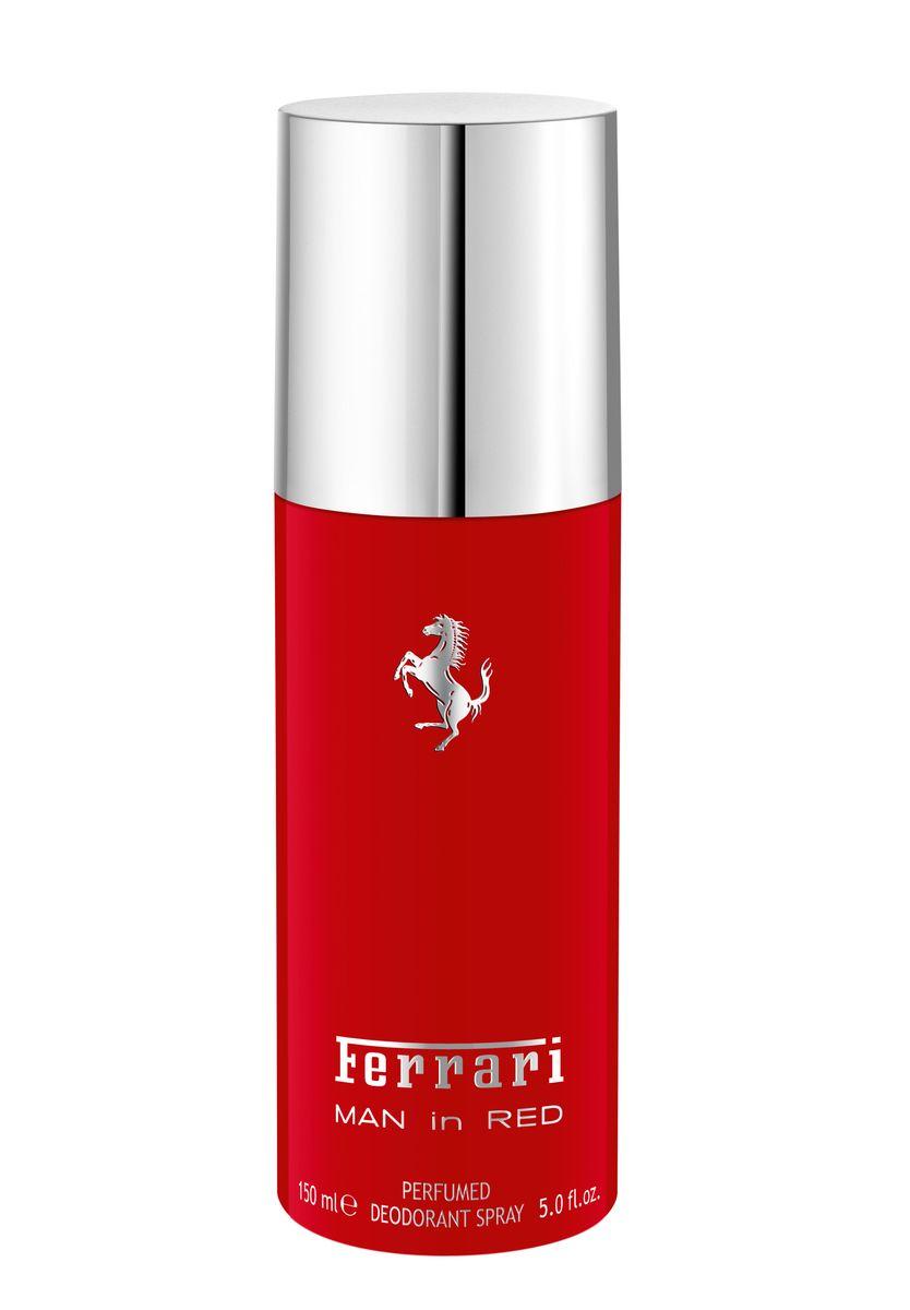 Ferrari Дезодорант-спрей парфюмированный MAN in RED мужской, 150 мл67000539Man in Red Ferrari - это аромат для мужчин, принадлежит к группе ароматов фужерные. Это новый аромат, Man in Red выпущен в 2015. Верхние ноты: Бергамот, Красное яблоко и кардамон; ноты сердца: Лаванда, желтая слива и Апельсиновый цвет; ноты базы: Белый кедр, Тонка бобы и Лабданум.