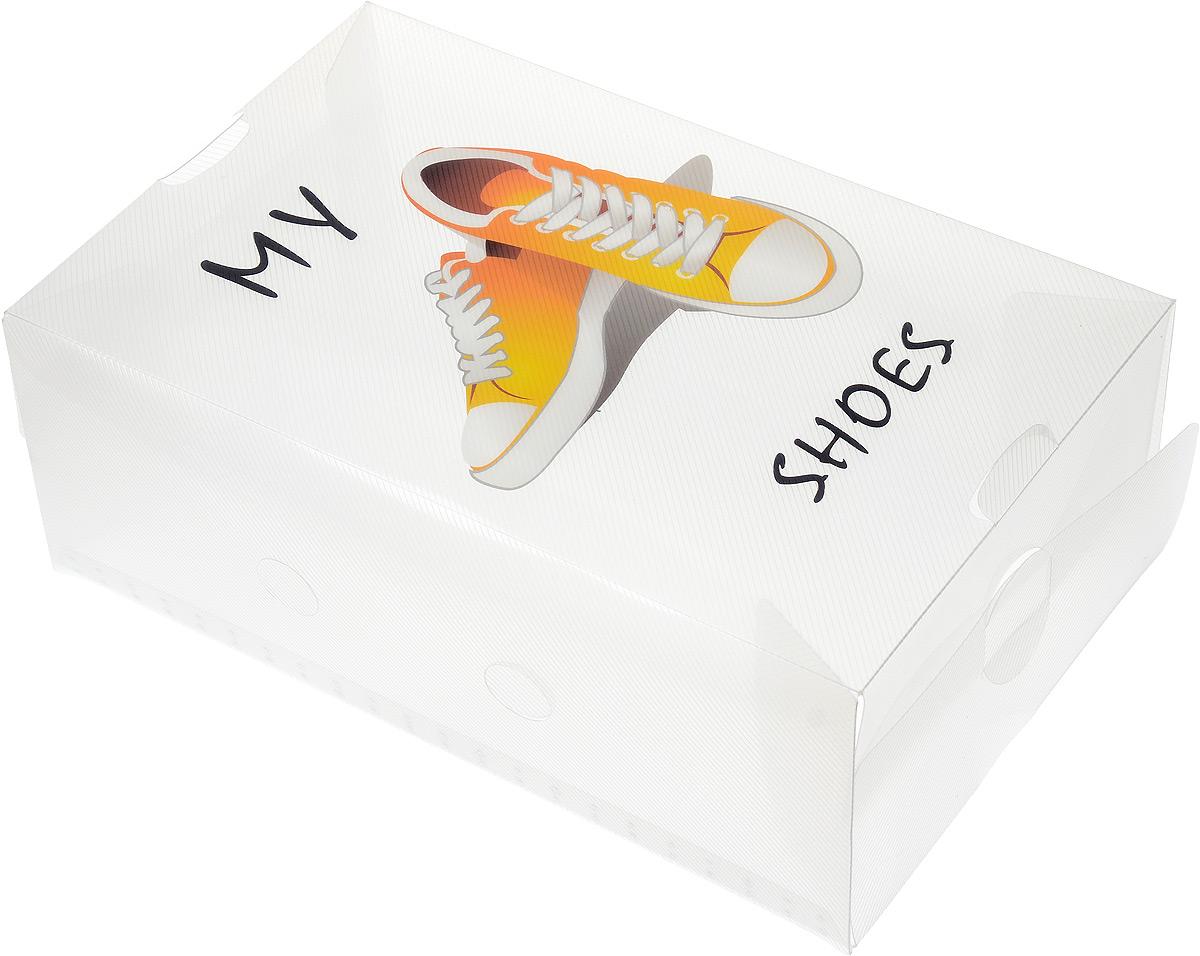 Коробка для хранения обуви Youll love, 33 х 20 х 12 см60326Коробка Youll love изготовлена из высококачественного прозрачного полипропилена. Она специально предназначена для хранения обуви. Изделие легко собирается и не занимает много места. С помощью боковой крышки можно доставать обувь, не снимая коробку с полки. Коробка для хранения Youll love- идеальное решение для аккуратного хранения вашей обуви в межсезонье. Размер коробки (в собранном виде): 33 х 20 х 12 см.