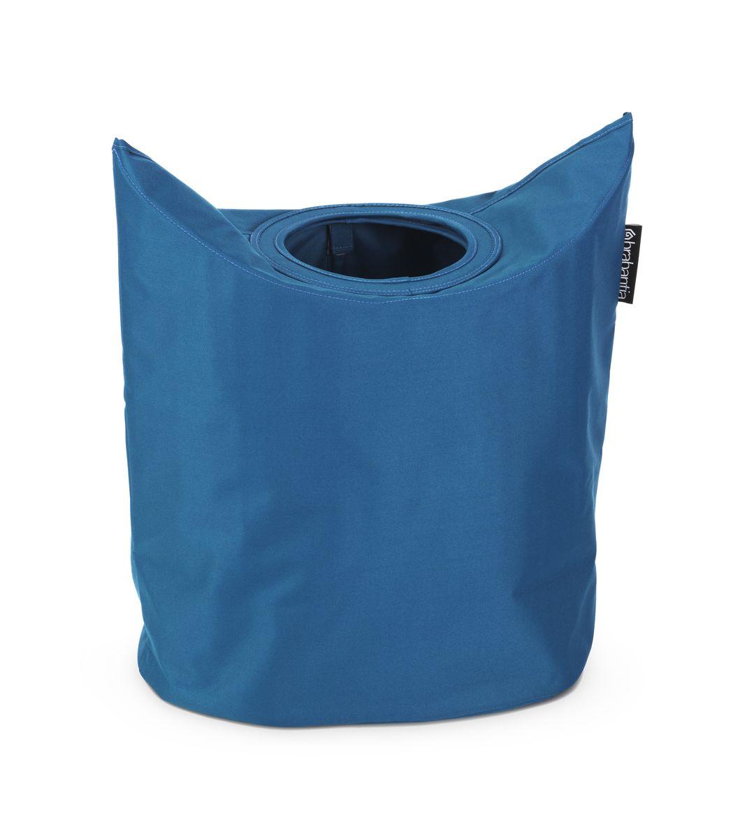 Сумка для белья Brabantia, цвет: синий. 102486102486Оригинальная сумка для белья экономит место и превращает вашу стирку в увлекательное занятие. С помощью складывающихся магнитных ручек сумка закрывается и превращается в корзину для белья с загрузочным отверстием. Собрались стирать? Поднимите ручки, и ваша сумка готова к использованию. Загрузочное отверстие для быстрой загрузки белья – просто сложите магнитные ручки; Большие удобные ручки для переноски; Удобно загружать белье в стиральную машину – большая вместимость и широкое отверстие; 2 года гарантии Brabantia.