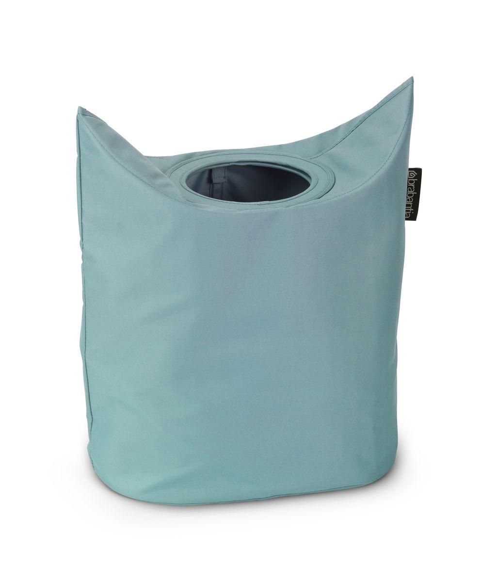 Сумка для белья Brabantia, цвет: мятный, 50 л. 102509106-029Оригинальная сумка для белья Brabantia экономит место и превращает вашу стирку в увлекательное занятие. С помощью складывающихся магнитных ручек сумка закрывается и превращается в корзину для белья с загрузочным отверстием. Собрались стирать? Поднимите ручки, и ваша сумка готова к использованию. Особенности: Загрузочное отверстие для быстрой загрузки белья – просто сложите магнитные ручки; Большие удобные ручки для переноски; Удобно загружать белье в стиральную машину – большая вместимость и широкое отверстие; 2 года гарантии Brabantia; Объем 50 л.