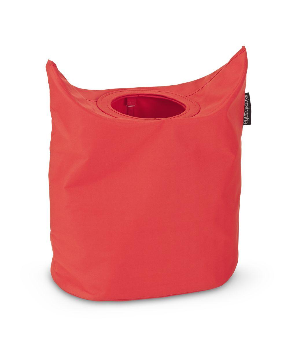 Сумка для белья Brabantia, цвет: красный. 102523102523Оригинальная сумка для белья экономит место и превращает вашу стирку в увлекательное занятие. С помощью складывающихся магнитных ручек сумка закрывается и превращается в корзину для белья с загрузочным отверстием. Собрались стирать? Поднимите ручки, и ваша сумка готова к использованию. Загрузочное отверстие для быстрой загрузки белья – просто сложите магнитные ручки; Большие удобные ручки для переноски; Удобно загружать белье в стиральную машину – большая вместимость и широкое отверстие; 2 года гарантии Brabantia.
