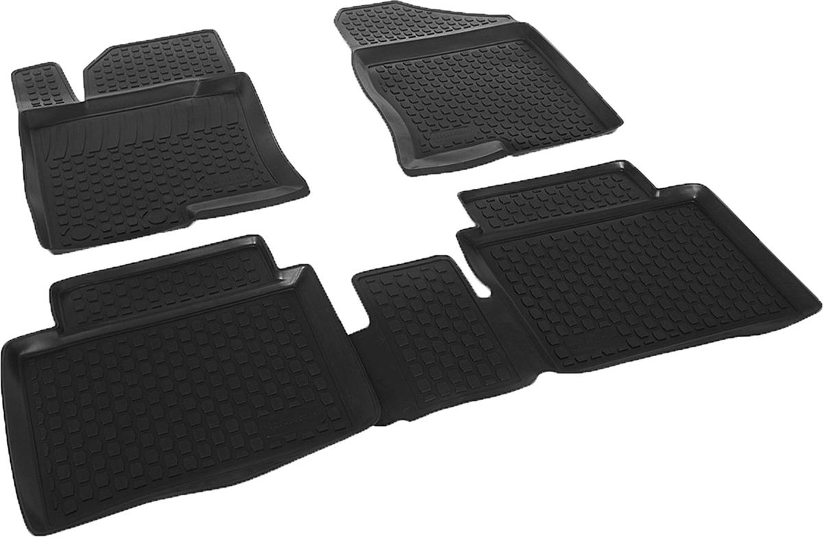Коврики в салон автомобиля L.Locker, для Hyundai Sonata i45 (10-), 4 шт0204040201Коврики L.Locker производятся индивидуально для каждой модели автомобиля из современного и экологически чистого материала. Изделия точно повторяют геометрию пола автомобиля, имеют высокий борт, обладают повышенной износоустойчивостью, антискользящими свойствами, лишены резкого запаха и сохраняют свои потребительские свойства в широком диапазоне температур (от -50°С до +80°С). Рисунок ковриков специально спроектирован для уменьшения скольжения ног водителя и имеет достаточную глубину, препятствующую свободному перемещению жидкости и грязи на поверхности. Одновременно с этим рисунок не создает дискомфорта при вождении автомобиля. Водительский ковер с предустановленными креплениями фиксируется на штатные места в полу салона автомобиля. Новая технология системы креплений герметична, не дает влаге и грязи проникать внутрь через крепеж на обшивку пола.