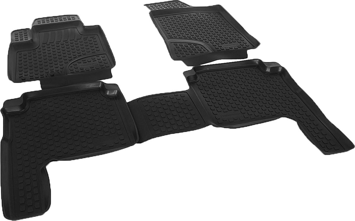 Коврики в салон автомобиля L.Locker, для Hyundai Santa Fe II (10-), 4 штSC-FD421005Коврики L.Locker производятся индивидуально для каждой модели автомобиля из современного и экологически чистого материала. Изделия точно повторяют геометрию пола автомобиля, имеют высокий борт, обладают повышенной износоустойчивостью, антискользящими свойствами, лишены резкого запаха и сохраняют свои потребительские свойства в широком диапазоне температур (от -50°С до +80°С). Рисунок ковриков специально спроектирован для уменьшения скольжения ног водителя и имеет достаточную глубину, препятствующую свободному перемещению жидкости и грязи на поверхности. Одновременно с этим рисунок не создает дискомфорта при вождении автомобиля. Водительский ковер с предустановленными креплениями фиксируется на штатные места в полу салона автомобиля. Новая технология системы креплений герметична, не дает влаге и грязи проникать внутрь через крепеж на обшивку пола.