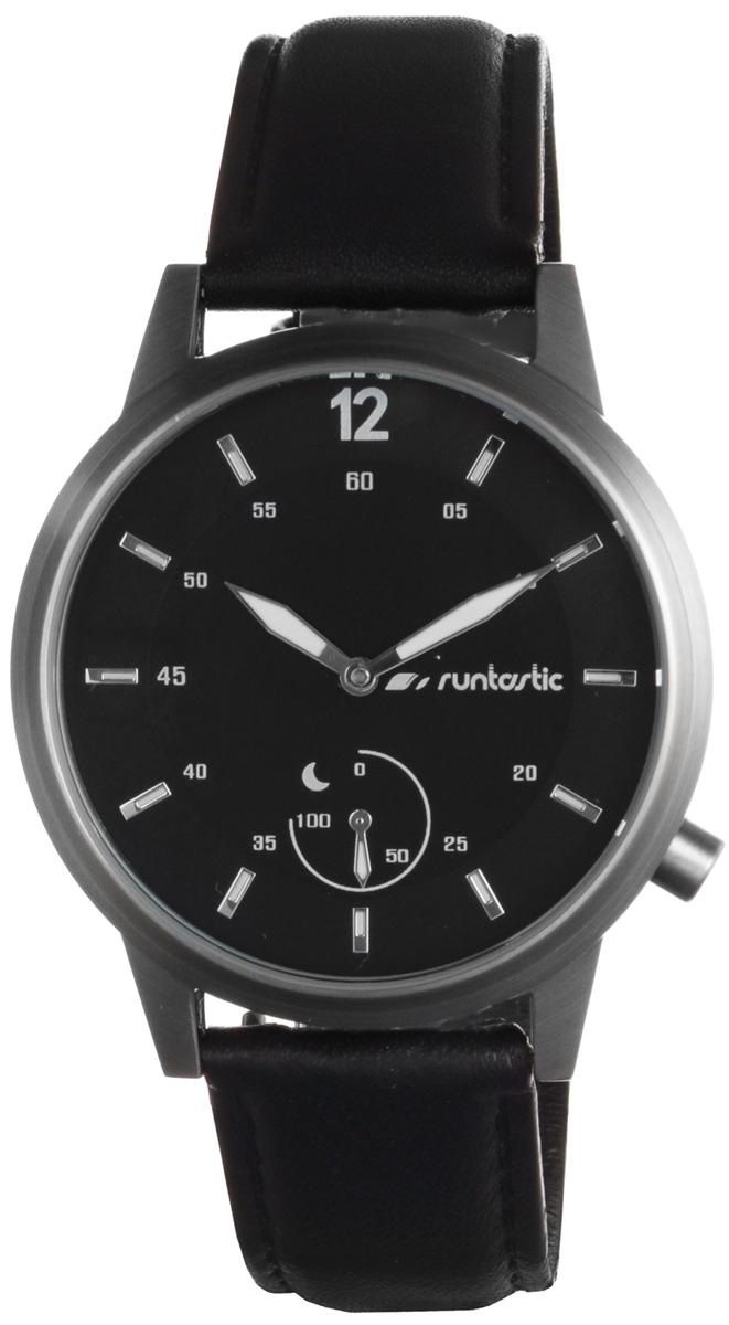 Часы наручные Runtastic Moment Classic, спортивные, цвет: черный, стальной. RUNMOCL19110103Спортивные часы Runtastic Moment Classic выполнены из нержавеющей стали, натуральной кожи и минерального стекла. Модель Moment Classic представляет собой стильные наручные часы с круглым аналоговым циферблатом.Многофункциональные спортивные часы оснащены функцией Bluetooth Smart, которая позволит синхронизировать часы с самртфоном. Корпус часов имеет степень водонепроницаемости 100м и дополнен устойчивым к царапинам минеральным стеклом, стрелки и отметки на циферблате дополнены светящимся составом. Ремешок часов выполнен из натуральной кожи, а также оснащен практичной пряжкой, которая позволит с легкостью снимать и надевать изделие.Комплект поставки включает: часы, элемент питания, инструмент для замены элемента питания, 4 дополнительных винта.Изделие поставляется в фирменной упаковке.Гаджет идеально подходит для активного образа жизни. Высокое качество, классический дизайн и инновационные технологии позволяют достигать поставленных целей, контролировать ежедневный прогресс. Совместимость с iPhone 4s и более новыми моделями, со смартфонами на базе Android (v4.3 и новее) поддерживающими Bluetooth 4.0 Smart; смартфонами и планшетами на базе Windows Phone (v8.1 и новее), поддерживающими Bluetooth 4.0 Smart.