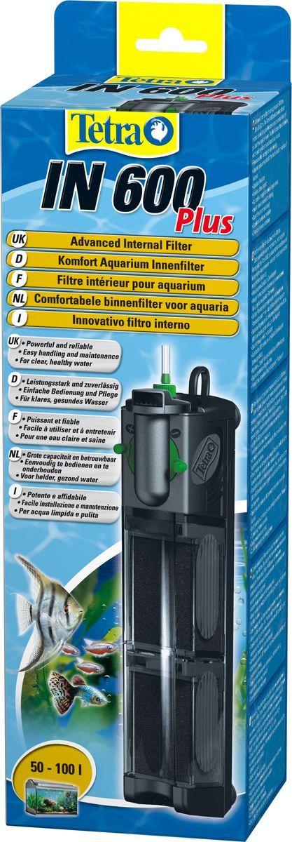 Фильтр внутренний Tetra IN 600 Plus, для аквариумов до 100 л607651Внутренний фильтр TetraTec IN600. Мощный и удобный внутренний фильтр для механической, биологической и химической очистки воды в аквариуме до 100 л. Внутренний рабочий фильтр оборудован 2-мя камерами для очистки воды, за счет этого потери полезных микроорганизмов сведены к минимуму. При очищении самого фильтра прибор не снимается. Для каждого объема аквариума оборот воды настраивается пользователем. Очищенная вода выходит обратно в аквариум через сопла, вращающиеся вокруг оси на 180 градусов. Есть функция дополнительного забора воздуха посредством универсальной системы Venturi. Дизайн фильтра очень лаконичный и компактный, что позволяет размещать прибор в любом месте аквариума. Присоски, размещенные на корпусе фильтра, надежно закрепляют его на поверхности. Качество оборудования подтверждено качественными сертификатами.
