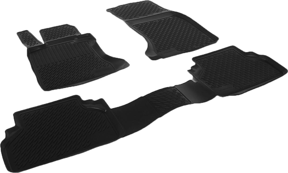 Коврики в салон автомобиля L.Locker, для BMW 5-series sd (03-), 4 шт0229050201Коврики L.Locker производятся индивидуально для каждой модели автомобиля из современного и экологически чистого материала. Изделия точно повторяют геометрию пола автомобиля, имеют высокий борт, обладают повышенной износоустойчивостью, антискользящими свойствами, лишены резкого запаха и сохраняют свои потребительские свойства в широком диапазоне температур (от -50°С до +80°С). Рисунок ковриков специально спроектирован для уменьшения скольжения ног водителя и имеет достаточную глубину, препятствующую свободному перемещению жидкости и грязи на поверхности. Одновременно с этим рисунок не создает дискомфорта при вождении автомобиля. Водительский ковер с предустановленными креплениями фиксируется на штатные места в полу салона автомобиля. Новая технология системы креплений герметична, не дает влаге и грязи проникать внутрь через крепеж на обшивку пола.