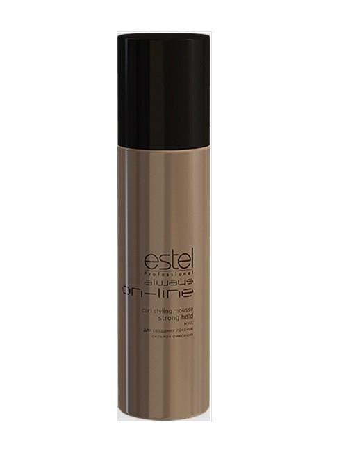 Estel Always On-Line - Мусс для создания локонов сильная фиксация 250 млOL.7Мусс позволяет создать четкие и разделенные локоны и волны, придать упругость завиткам, укрепить и защитить кутикулярный слой волос, снизить статику, а также защитить от термического воздействия и придать дополнительный блеск. Результат: Не только великолепная укладка, но и забота о здоровье волос становятся первым пунктом для ESTEL Always ON-LINE.