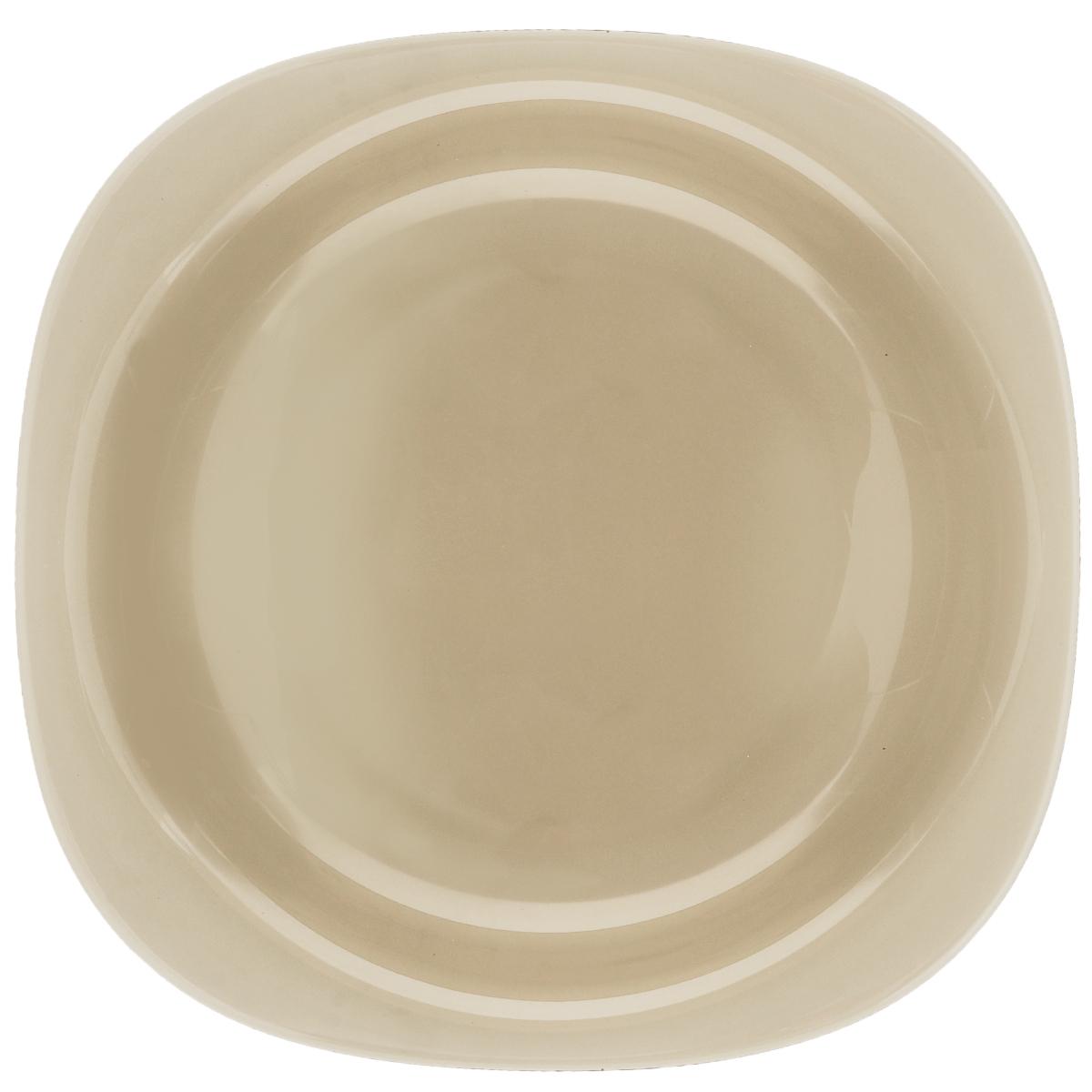 Тарелка глубокая Luminarc Carine Eclipse, 21 х 21 смH0395Глубокая тарелка Luminarc Carine Eclipse выполнена из ударопрочного стекла и оформлена в классическом стиле. Изделие сочетает в себе изысканный дизайн с максимальной функциональностью. Она прекрасно впишется в интерьер вашей кухни и станет достойным дополнением к кухонному инвентарю. Тарелка Luminarc Carine Eclipse подчеркнет прекрасный вкус хозяйки и станет отличным подарком. Размер (по верхнему краю): 21 х 21 см.