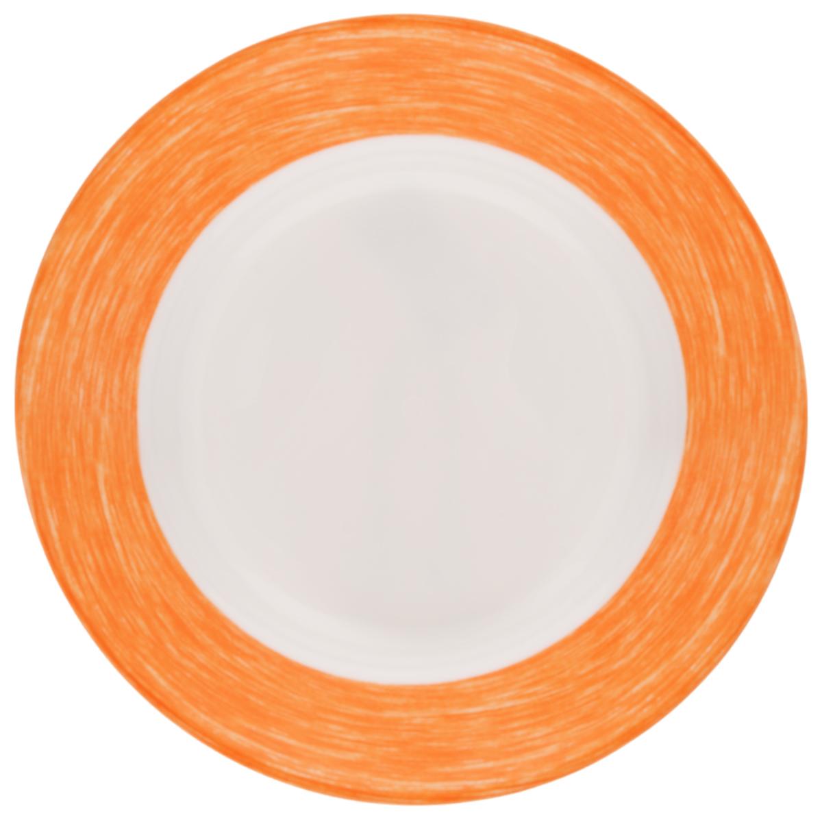 Тарелка глубокая Luminarc Color Days Orange, диаметр 22 смL1513Глубокая тарелка Luminarc Color Days Orange выполнена из ударопрочного стекла и имеет классическую круглую форму. Она прекрасно впишется в интерьер вашей кухни и станет достойным дополнением к кухонному инвентарю. Тарелка Luminarc Color Days Orange подчеркнет прекрасный вкус хозяйки и станет отличным подарком. Диаметр тарелки (по верхнему краю): 22 см.