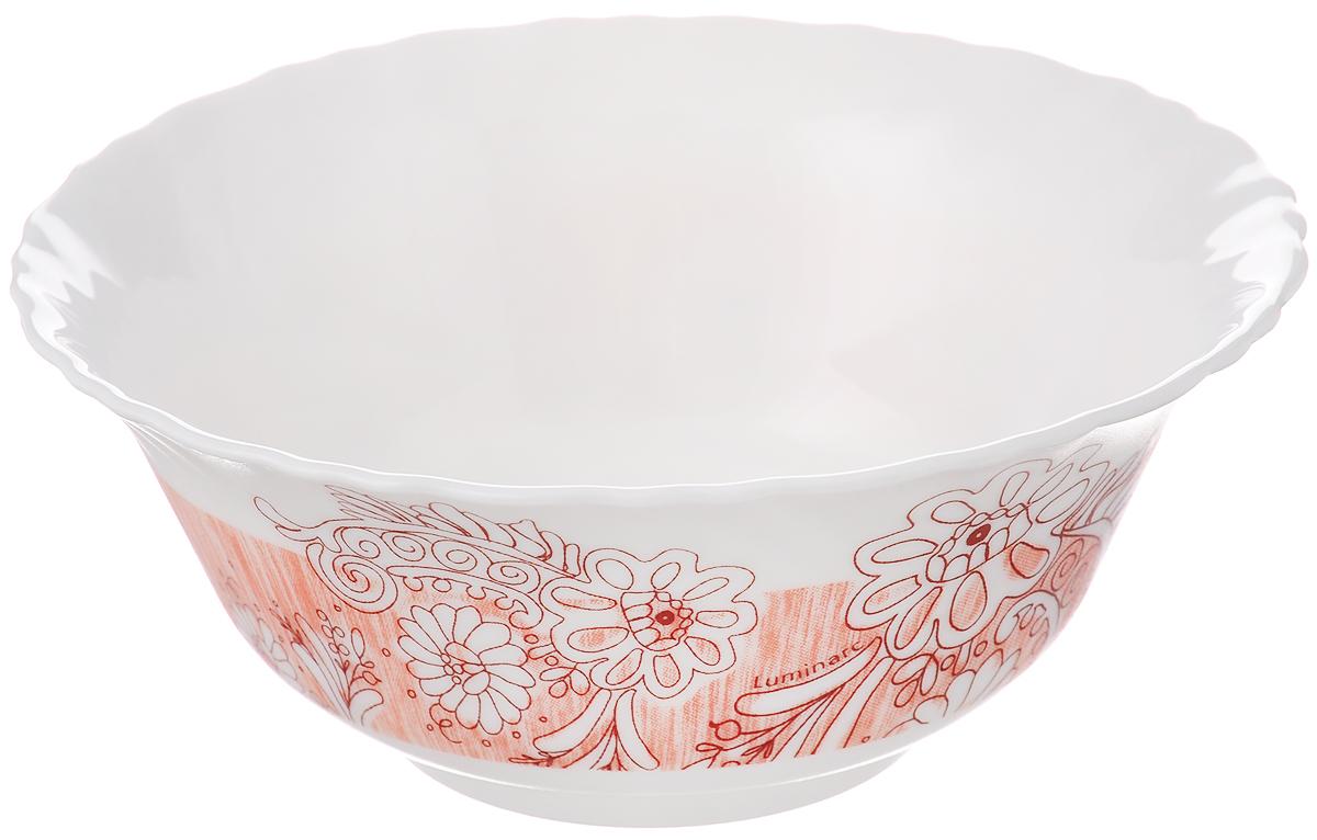 Салатник Luminarc Minelli, цвет: белый, светло-оранжевый, диаметр 12,5 смJ7038_светло-оранжевыйСалатник Luminarc Minelli, изготовленный из высококачественного стекла, прекрасно впишется в интерьер вашей кухни и станет достойным дополнением к кухонному инвентарю. Салатник оформлен ярким рисунком. Такой салатник не только украсит ваш кухонный стол и подчеркнет прекрасный вкус хозяйки, но и станет отличным подарком. Диаметр по верхнему краю: 12,5 см.