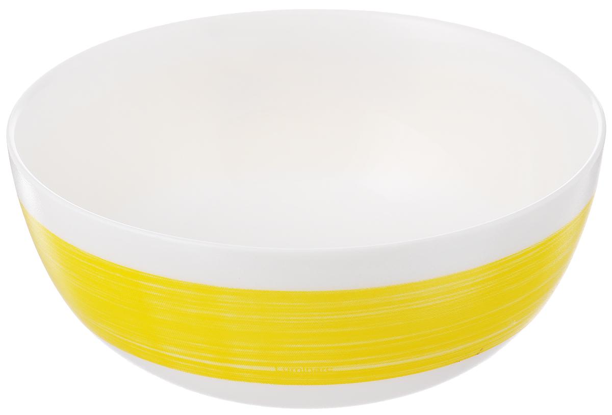 Салатник Luminarc Color Days Yellow, диаметр 12,5 смL1522Великолепный круглый салатник Luminarc Color Days Yellow, изготовленный из ударопрочного стекла, прекрасно подойдет для подачи различных блюд: закусок, салатов или фруктов. Такой салатник украсит ваш праздничный или обеденный стол, а оригинальное исполнение понравится любой хозяйке. Диаметр салатника (по верхнему краю): 12,5 см.