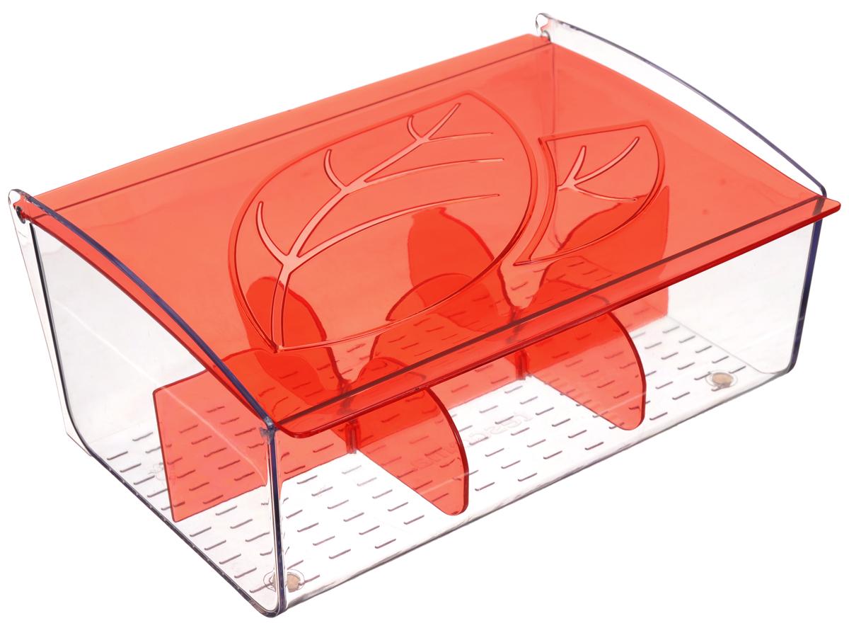 Коробка для чайных пакетиков Tescoma Mydrink, цвет: красный, прозрачный, 21,8 х 16,5 х 9,3 см308888_красныйКоробка для чайных пакетиков Tescoma Mydrink изготовлена из прочного пластика. Изделие имеет 6 отделений для организованного хранения до 60 чайных пакетиков. Благодаря профилированному дну пакетики не скользят и не падают. Перегородки съемные, для более удобного мытья.