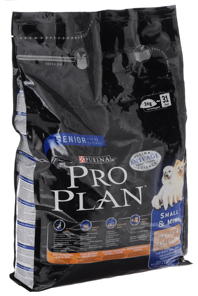 Корм сухой Pro Plan Senior для собак мелких пород старше 7 лет, курица с рисом, 3 кг12272675Сухой корм Pro Plan Senior - полнорационный корм для собак мелких пород старше 7 лет. Содержит исключительные ингредиенты, которые увеличивают активность и мысленную остроту. Ваша собака будет более чуткой и внимательной к окружающей обстановке, что приведет к тесной связи между вами и вашим питомцем. Состав: курица (14%), сухой белок птицы, пшеница, кукурузный глютен, кукуруза, рис (12%), сухая мякоть свеклы, растительное масло, минеральные вещества, пшеничный глютен, животные жиры, рыбий жир, вкусоароматическая кормовая добавка, дрожжи, витамины. Анализ: белок: 29%, жир: 15%, сырая зола: 7%, сырая клетчатка: 2%. Добавки на кг: витамин А: 32 450; витамин D3: 1050; витамин Е: 730 мг/кг; витамин С: 265, моногидрат сульфата железа: 220, йодат кальция: 2,8, сульфат меди: 45, моногидрат сульфата марганца: 90, моногидрат сульфата цинка: 375, селенит натрия: 0,26. Товар сертифицирован.