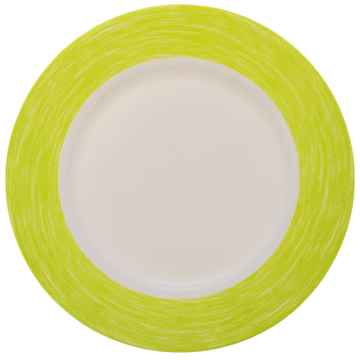 Тарелка обеденная Luminarc Color Days Anis, диаметр 24 см115510Обеденная тарелка Luminarc Color Days Anis, изготовленная из высококачественного стекла, имеет изысканный внешний вид. Яркий дизайн придется по вкусу и ценителям классики, и тем, кто предпочитает утонченность. Тарелка Luminarc Color Days Anis идеально подойдет для сервировки стола и станет отличным подарком к любому празднику.Диаметр (по верхнему краю): 24 см.