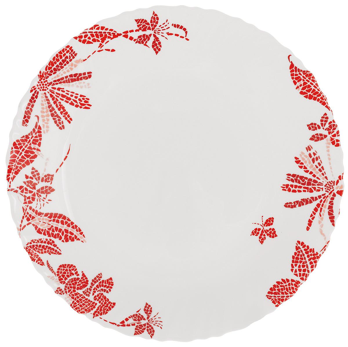 Тарелка обеденная Luminarc Romancia, диаметр 25 смH2393Обеденная тарелка Luminarc Romancia, изготовленная из высококачественного стекла, имеет изысканный внешний вид. Яркий дизайн придется по вкусу и ценителям классики, и тем, кто предпочитает утонченность. Тарелка Luminarc Romancia идеально подойдет для сервировки стола и станет отличным подарком к любому празднику. Диаметр (по верхнему краю): 25 см.
