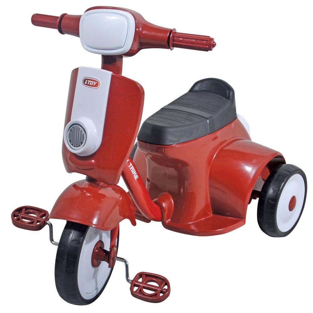 1TOY Мотороллер детский треколесныйТ57611Мотороллер 1toy 3-х колесный пластиковый. Колеса 9/7, сиденье с отсеком, со звуком