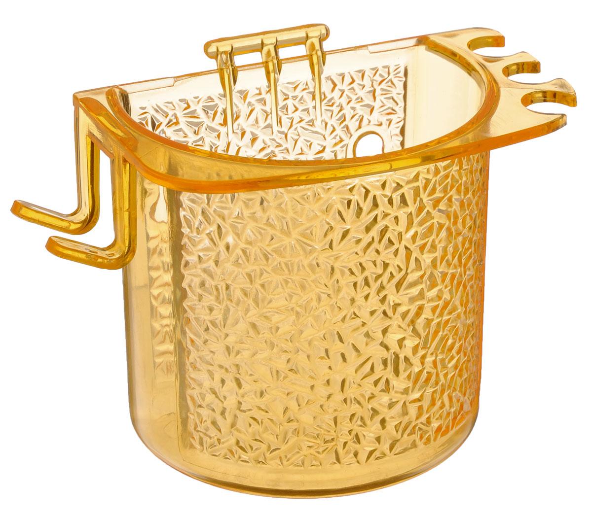 Стакан для ванной Fresh Code, на липкой основе, цвет: оранжевый64945_желтыйСтакан для ванной комнаты Fresh Code выполнен из ABS пластика. Крепление на липкой основе многократного использования идеально подходит для гладкой поверхности. С оборотной стороны изделие оснащено двумя отверстиями для удобного размещения на стене. В стакане удобно хранить зубные щетки, пасту и другие принадлежности. Аксессуары для ванной комнаты Fresh Code стильно украсят интерьер и добавят в обычную обстановку яркие и модные акценты. Стакан идеально подойдет к любому стилю ванной комнаты.