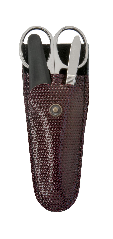 Zinger Маникюрный набор zMs Z-3 S-PVC14939Ман. набор 3 предмета (ножницы кутикульные, пилка алмазная, пинцет). Чехол эко.кожа. Цвет инструментов - глянцевое серебро. Оригинальная фирменная коробка. Уважаемые клиенты! Обращаем ваше внимание, что цвет футляра может меняться в зависимости от прихода на склад.