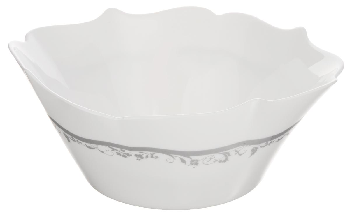 Салатник Luminarc Authentic Silver, цвет: белый, серый, 23 х 23 смH8387Салатник Luminarc Authentic Silver, изготовленный из ударопрочного стекла, имеет элегантный дизайн с красивым цветочным орнаментом. Он прекрасно подойдет для подачи различных блюд: закусок, салатов или фруктов. Такой салатник украсит ваш праздничный или обеденный стол, а оригинальное исполнение понравится любой хозяйке. Размер салатника (по верхнему краю): 23 х 23 см. Высота салатника: 9 см.