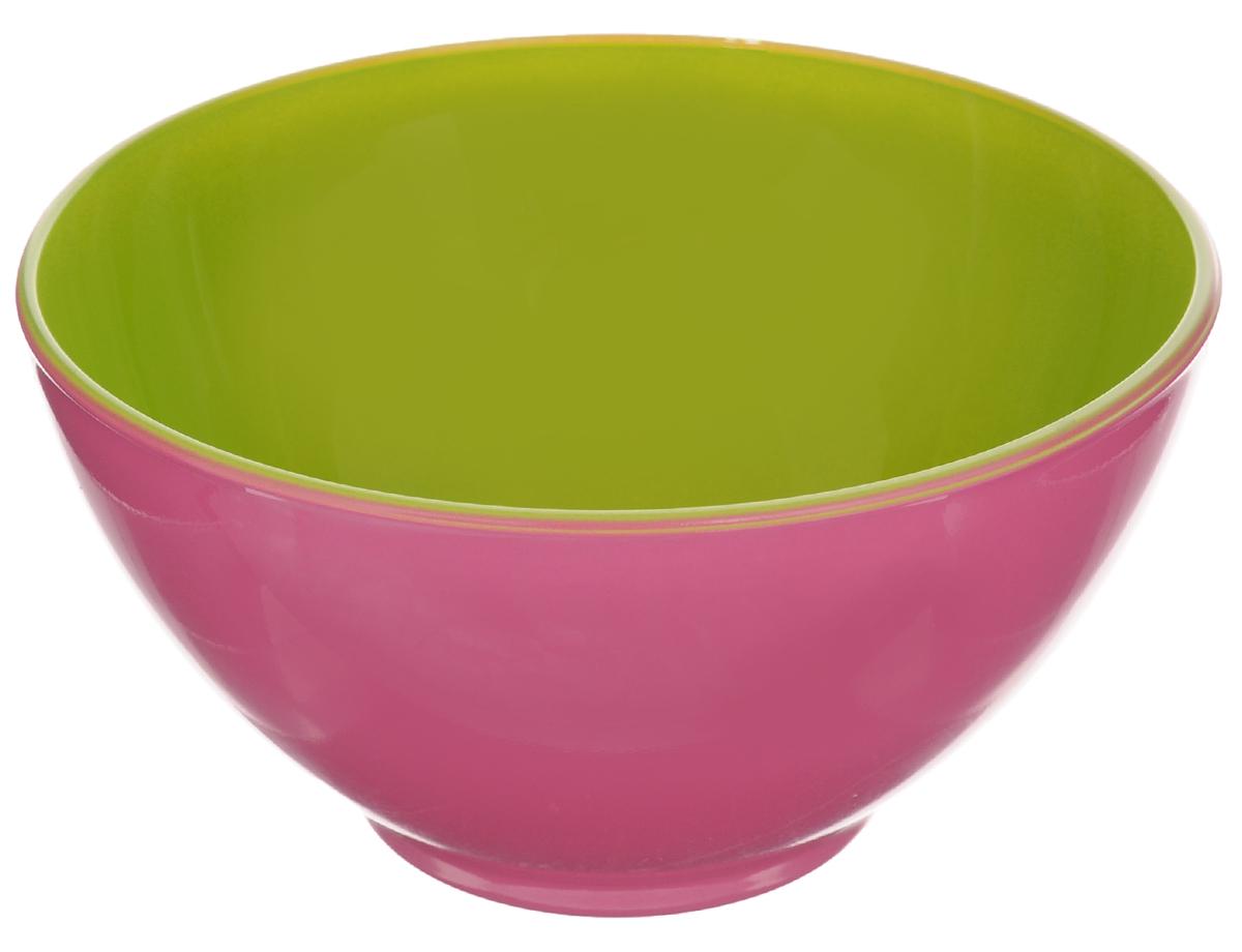 Пиала Luminarc Spring Break, цвет: розовый, салатовый, 500 млH8273Пиала Luminarc Spring Break изготовлена из высококачественного стекла. Изделие прекрасно подойдет для салатов, супа или мороженого. Пиала дополнит коллекцию кухонной посуды и будет служить долгие годы. Можно мыть в посудомоечной машине. Объем пиалы: 500 мл. Диаметр пиалы (по верхнему краю): 13 см. Высота пиалы: 7 см.