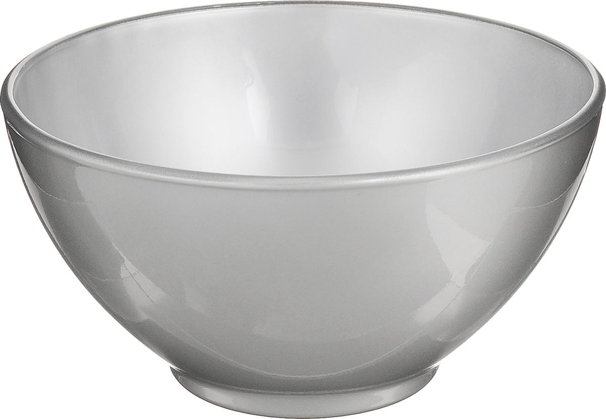 Пиала Luminarc Flashy Colors, цвет: серебристый, 500 млJ1126_сереброПиала Luminarc Flashy Colors, изготовленная из ударопрочного стекла, прекрасно подойдет для подачи салата, супа или мороженого. Благодаря лаконичному дизайну, такая пиала станет бесспорным украшением вашего стола. Она дополнит коллекцию кухонной посуды и будет служить долгие годы. Диаметр пиалы (по верхнему краю): 13 см. Высота пиалы: 7 см.