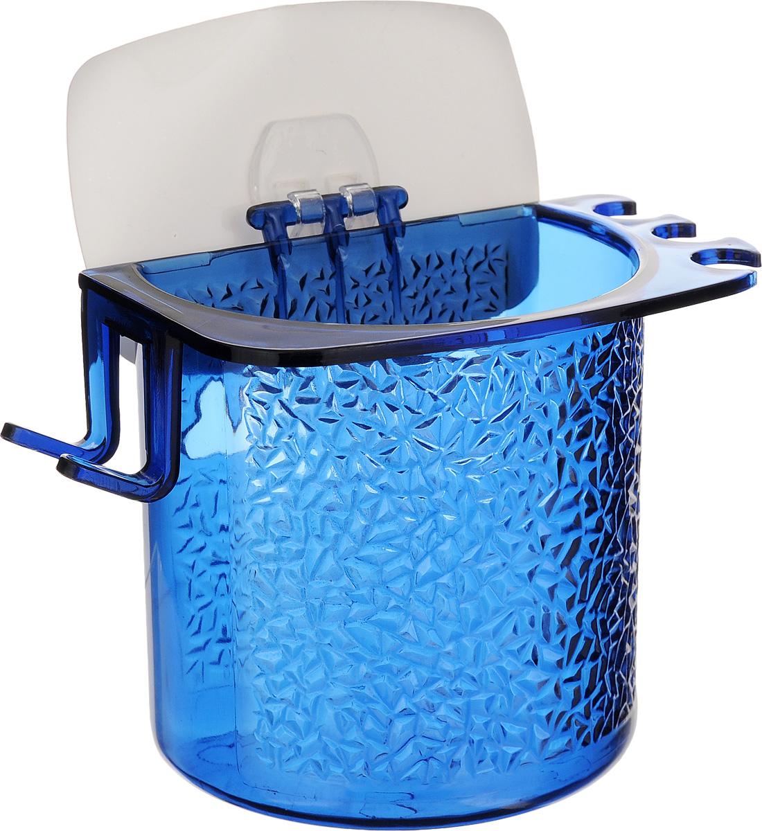 Стакан для ванной Fresh Code, на липкой основе, цвет: синий64945_синийСтакан для ванной комнаты Fresh Code выполнен из ABS пластика. Крепление на липкой основе многократного использования идеально подходит для гладкой поверхности. С оборотной стороны изделие оснащено двумя отверстиями для удобного размещения на стене. В стакане удобно хранить зубные щетки, пасту и другие принадлежности. Аксессуары для ванной комнаты Fresh Code стильно украсят интерьер и добавят в обычную обстановку яркие и модные акценты. Стакан идеально подойдет к любому стилю ванной комнаты.