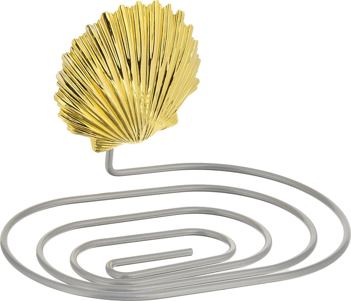 Мыльница Fresh Code Море. Ракушка, на присоске, цвет: золотистый, 14 х 9,5 х 2 см56444_золотистая ракушкаМыльница Fresh Code Море. Ракушка выполнена из хромированной стали и украшена пластиковой фигуркой морской ракушки. Изделие крепится к стене при помощи присоски. Такая мыльница прекрасно подойдет для ванной комнаты или кухни.