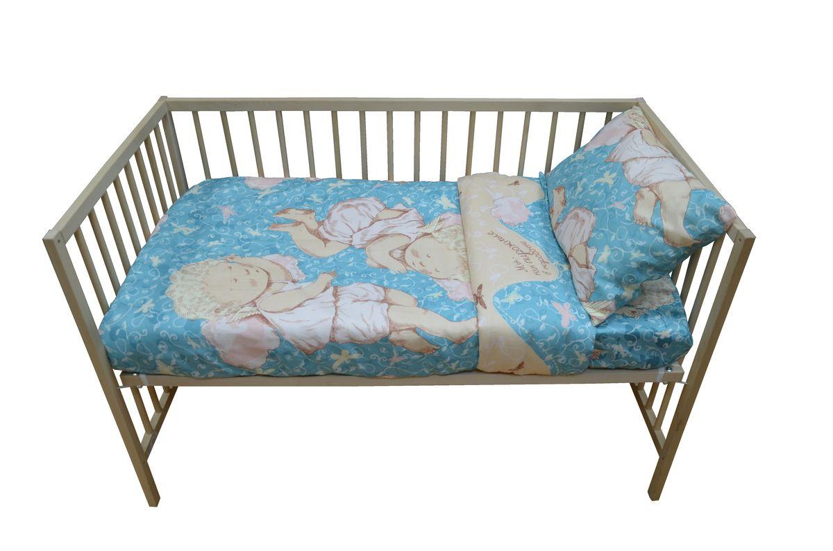 Коллекция Комплект детского постельного белья Мы как пирожные в коробочке простыня на резинке цвет мятный