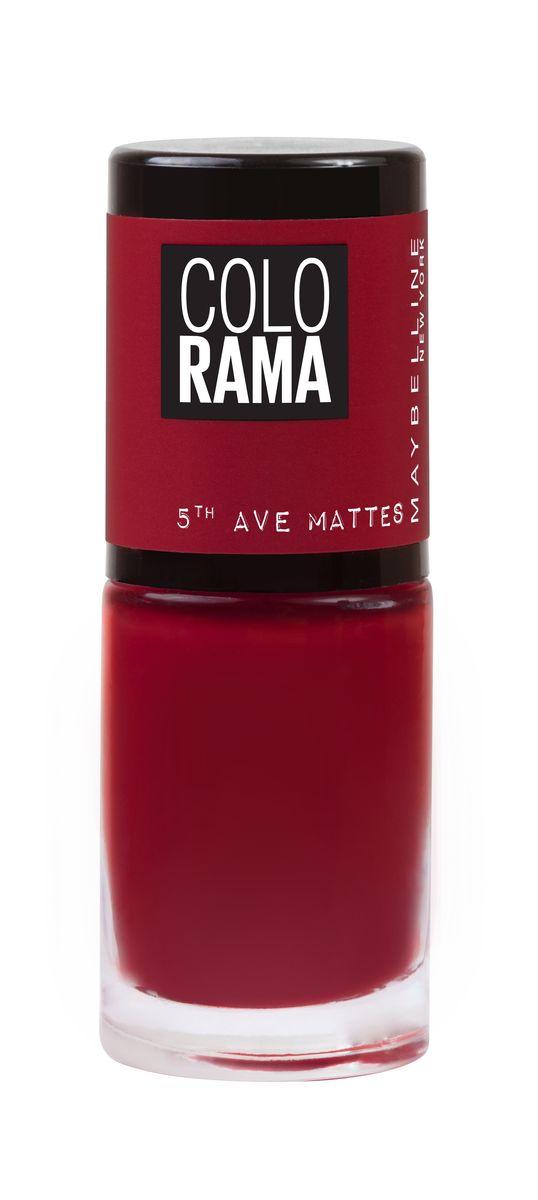 Maybelline New York Лак для ногтей Colorama Коллекция 5th Ave Matte, оттенок 456, матовый бордо, 7 млB2720400Новая коллекция матовых лаков Colorama
