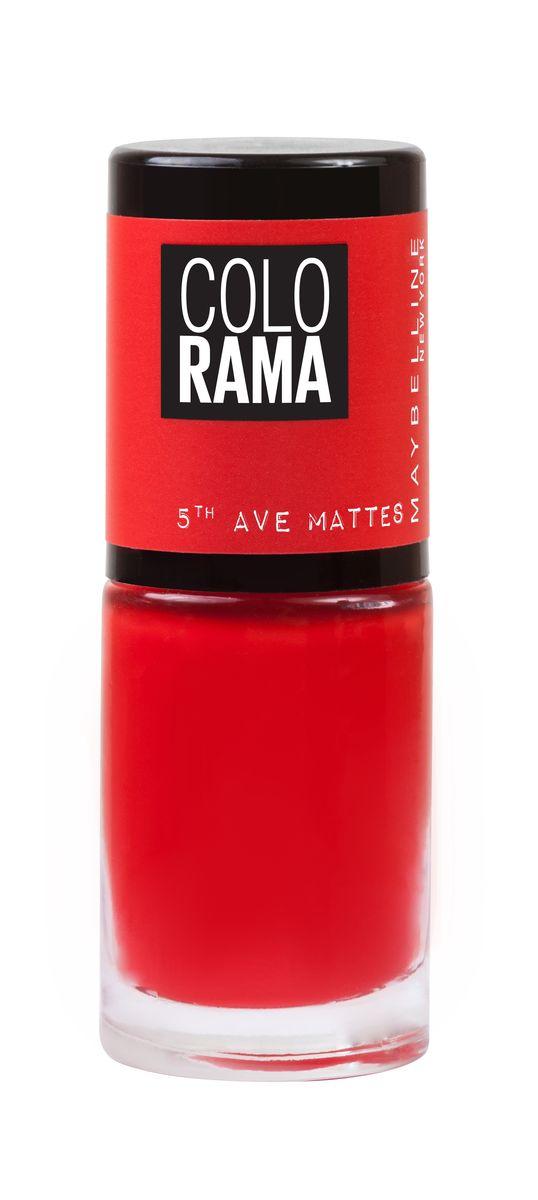 Maybelline New York Лак для ногтей Colorama Коллекция 5th Ave Matte, оттенок 455, Коралл, 7 мл002722Новая коллекция матовых лаков Colorama