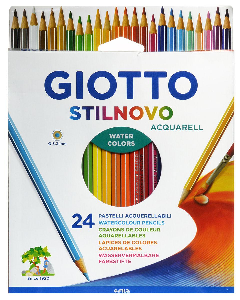 Giotto Набор цветных карандашей Stilnovo Acquarell 24 цвета72523WDЦветные карандаши Glotto Stilnovo Acquarell непременно понравятся вашему юному художнику. Набор включает в себя 24 ярких насыщенных цветных карандаша гексагональной формы с серебряным нанесением по ребру грани. Идеально подходят для школы. Карандаши изготовлены из сертифицированного дерева, экологически чистые, имеют прочный неломающийся грифель, не требующий сильного нажатия и легко затачиваются. На рубашке карандаша имеется место для нанесения имени. Порадуйте своего ребенка таким восхитительным подарком!