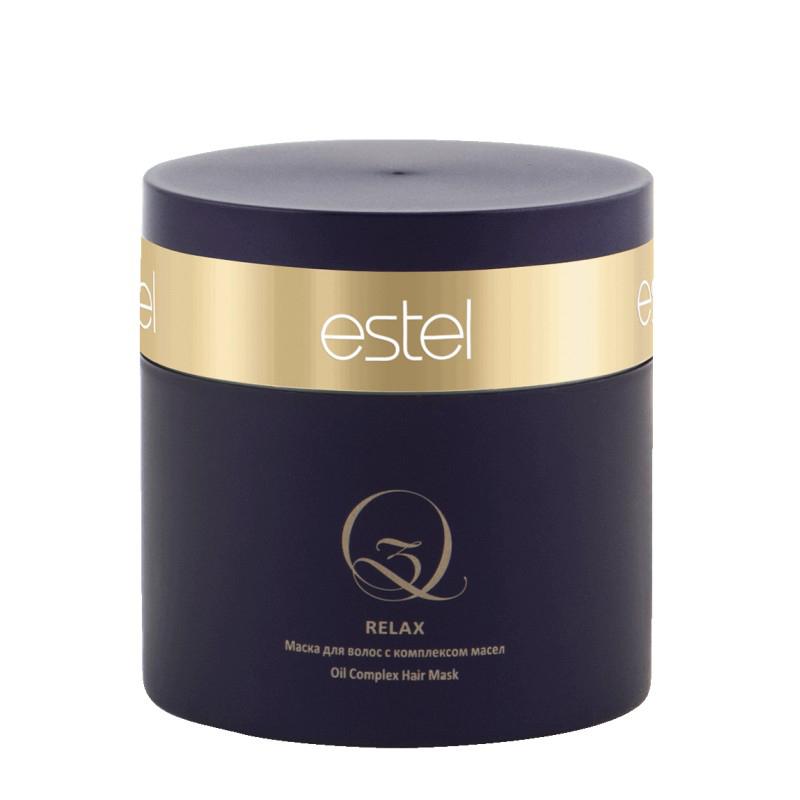 Estel Q3 Relax - Маска для волос с комплексом масел Q3 300 млQ3/300/MТип волос: Все Проблемы волос: Ослабленные волосы Укрепляет и насыщает структуру волос ценными маслами арганы и макадамии. Результат: Без эффекта утяжеления. Обеспечивает антистатический эффект. Поддерживает яркость цвета и сохраняет защитный экран на поверхности волос