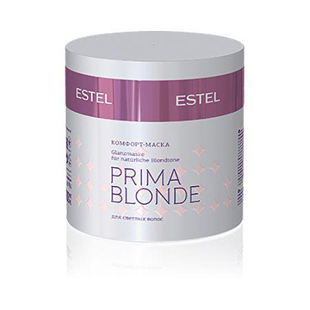 Estel Prima Blonde - Комфорт-маска для светлых волос 300 млPB.6Тип волос: Светлые натуральные и окрашенные Проблемы волос: Поврежденные волосы Мгновенное питание, интенсивное увлажнение, а главное – защита от негативных внешних воздействий! Маска позволит волосам надолго оказаться в зоне комфорта. Комплекс Peаrl Comfort в составе продукта восстановит структуру волос, обеспечит блеск, мягкость и безупречный вид. Результат: Амино-функциональный силоксановый полимер – восстанавливает волосы Натрий PCA – стабилизирует цвет, увлажняет волосы.