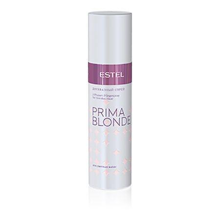 Estel Prima Blonde - Двухфазный спрей для светлых волос 200 мл72523WDТип волос: Светлые натуральные и окрашенные Проблемы волос: Сухость и ломкость Спрей активно питает и увлажняет сухие и ломкие светлые волосы. В составе продукта – комплекс Peаrl Comfort с протеинами пшеницы. Ничуть не перегружая волосы, спрей эффективно восстанавливает их структуру, наделяет природной силой, придает объем и сияние по всей длине. Дополнительно обеспечивает термозащиту при укладке.Результат: Протеины пшеницы – восстановление волос Фенил триметикон – блеск волос Поликватерниум – объем волос.