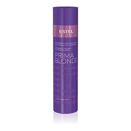 Estel Prima Blonde - Серебристый шампунь для холодных оттенков блонд 250 млБ33041_шампунь-барбарис и липа, скраб -черная смородинаТип волос: Осветленные Проблемы волос: Желтый оттенок Серебристый шампунь создан специально для того, чтобы, мягко очищая волосы, придавать им благородный серебристый оттенок. Желтый нюанс – забыт, цвет остается холодным, ярким и пленительным! Система Nаturаl Peаrl в составе продукта содержит пантенол и кератин, которые способствуют восстановлению структуры волос, обеспечивают им мягкость и блеск.Результат: Фиолетовые пигменты – нейтрализуют желтый нюанс, Кератин – придает волосам здоровый и ухоженный вид, насыщает блеском, Пантенол – восстанавливает и увлажняет волосы.