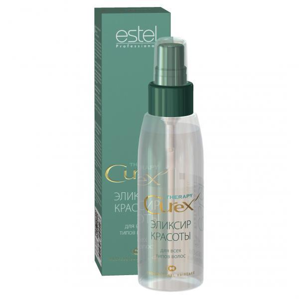 Estel Curex Therapy Эликсир красоты для всех типов волос 100 млCU100/ELEstel Curex Therapy Эликсир красоты для все типов волос. Мгновенно преображает волосы, придает им красивый, ухоженный вид. Содержит аргановое масло и витамин Е, обеспечивающие увлажнение, питание, мягкость и блеск волос. Восстанавливает и укрепляет поврежденные волосы, облегчает расчесывание.