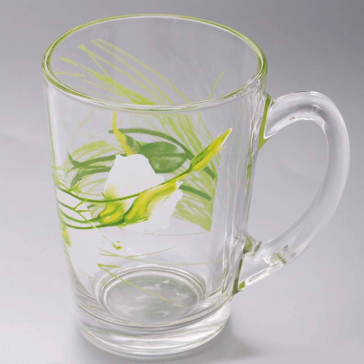 Кружка Luminarc Sofiane Green, 320 млJ7909Кружка Luminarc Sofiane Green изготовлена из упрочненного стекла. Такая кружка прекрасно подойдет для горячих и холодных напитков. Она дополнит коллекцию вашей кухонной посуды и будет служить долгие годы. Диаметр кружки (по верхнему краю): 8 см.